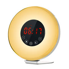 best light up alarm clock best wake up light alarm clock sunrise sunset simulation digital eu