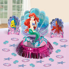 amazon disney ariel mermaid birthday party table