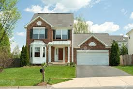single family home in suburban maryland usa stock photo picture