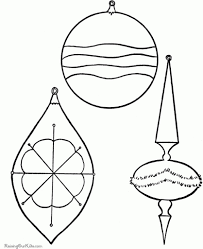brilliant ornaments coloring pages printable regarding