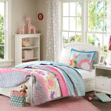 pink blue daisy u0026 butterfly bedding twin full queen little girls
