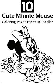 mini mouse coloring coloring pages kids 7366