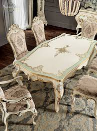 ivory dining room with inlaid and carved furniture finished one ivory dining room with inlaid and carved furniture finished one piece table silver leaf