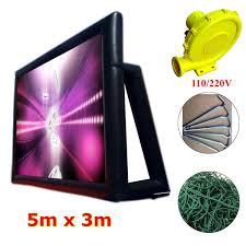 16x10ft inflatable giant movie screen outdoor cinema projector