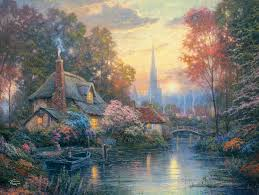 kinkade nanette s cottage 1500 puzzle by ceaco