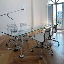 Glass Boardroom Tables Contemporary Boardroom Table Tempered Glass Metal Laminate