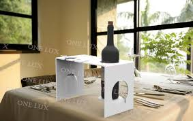 waterfall acrylic wine bottle u0026 glass holder clear lucite wine