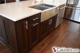 espresso kitchen cabinets with white countertops espresso cabinets cabinets