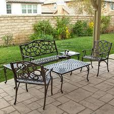 discount cast aluminum patio furniture patio ideas bel air cast aluminum sling fire pit chat groupings