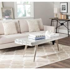 Aluminum Coffee Table Mid Century Modern Cubist Aluminum Coffee Table In The Style Of