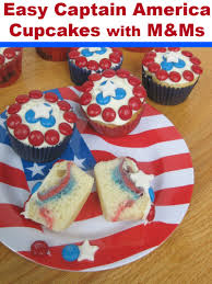 easy captain america cupcakes with m u0026ms organized 31