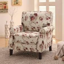 Chair Coaster Furniture  Upholstered Floral Accent Chair - Red accent chair living room