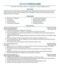 supervisor resume templates resume exles for managers loss prevention supervisor resume