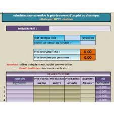 logiciel recette cuisine gratuit lgpst calculer le prix de revient d un plat d une recette ou d un menu