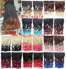 wholesale hair extensions 10pcs lot 24 wholesale dip dye ombre synthetic fibre hair