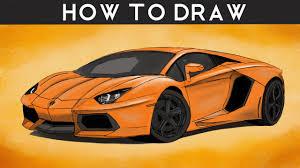 how to draw a lamborghini aventador step by step drawingpat