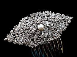antique hair combs bridal hair comb vintage hair comb antique silver hair comb
