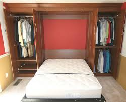 Closet Bed Frame Clever Murphy Bed Setup With Closet Space Organize Closet
