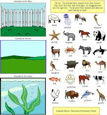 animals and their habitat worksheets for kindergarten habitat