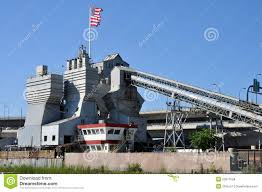 cement factory with american flag stock images image 20677594