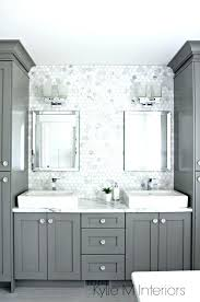 bathroom glass tile ideas bathroom backsplash ideas silver metal and glass tile ideas bathroom
