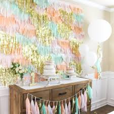 tissue streamers tissue fringe backdrop and or streamers frolic and frills
