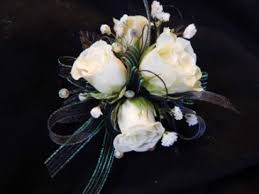 Black And White Corsage White Sweetheart Roses With Black Ribbon Corsage In Gladwin Mi