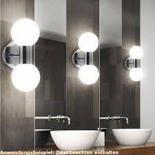 leuchten für badezimmer 2er set wand leuchten badezimmer spiegel len glas kugel