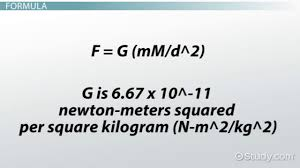 Meters Squared by Gravitational Field Definition U0026 Formula Video U0026 Lesson
