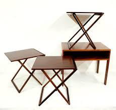 Folding Tray Table Set Best 25 Midcentury Folding Tables Ideas On Pinterest Midcentury