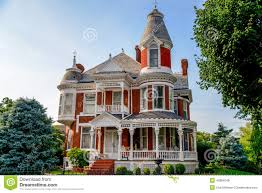 Queen Anne Victorian Victorian Brick Bed And Breakfast Home Stock Photo Image 45884048