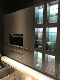 frosted glass kitchen cabinets door gray granite countertop
