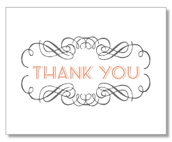 stylish beautiful thank you card art deco thank you card modern
