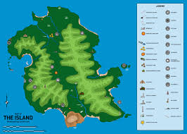 Lollapalooza Map Gis Map Of The Island From The Tv Show Lost In A World Gis