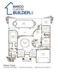 Outdoor Living Floor Plans by Custom Floor Plan Shorecrest