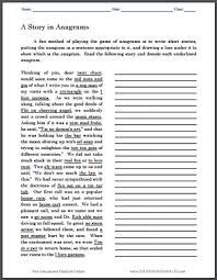 a story in anagrams printable puzzle student handouts