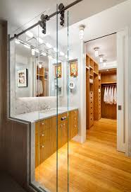 bathroom cabinet with towel rack with contemporary sliding glass