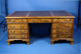 excellent antique partners desk for sale furniture within on