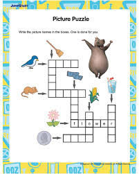 picture puzzle free english worksheet for kids tutoring