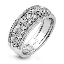 white gold vintage wedding bands 18k white gold vintage lace design wedding band duchess
