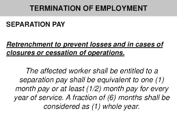 authorized causes of termination