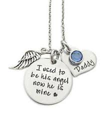 Personalized Memorial Necklace Memorial Gift Remembrance Necklace Loss Of Dad Loss Of Grandpa
