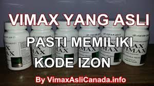 produk vimax yang asli harus memiliki kode izon bila tidak maka