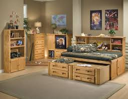 Daybed With Bookcase Headboard Trendwood Bunkhouse Twin Cheyenne Bookcase Bed With Trundle