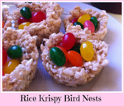 edible treats rice krispy bird nests an edible easter basket thrifty jinxy