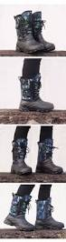 men military winte fishing boots warm camouflage rain boot with