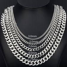 trendsmax silver chain men u0027s chains necklaces u0026 pendants ebay