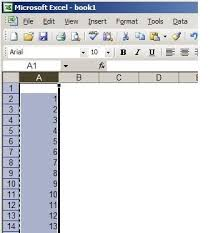 in an excel spreadsheet how can you transfer data from one column