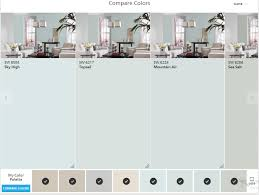 sherwin williams colorsnap compare colors sky high top sail