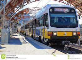 Dallas Dart Train Map by Dart Train Boarding Passengers In Lovers Lane Stat Editorial Image
